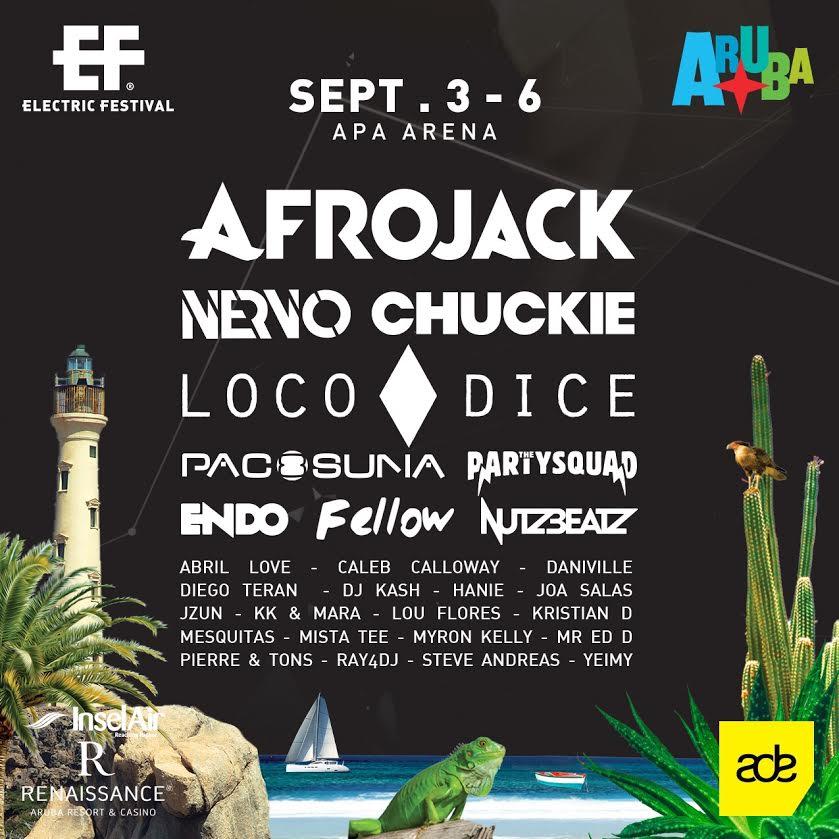 flyer aruba Electric Festival 2015