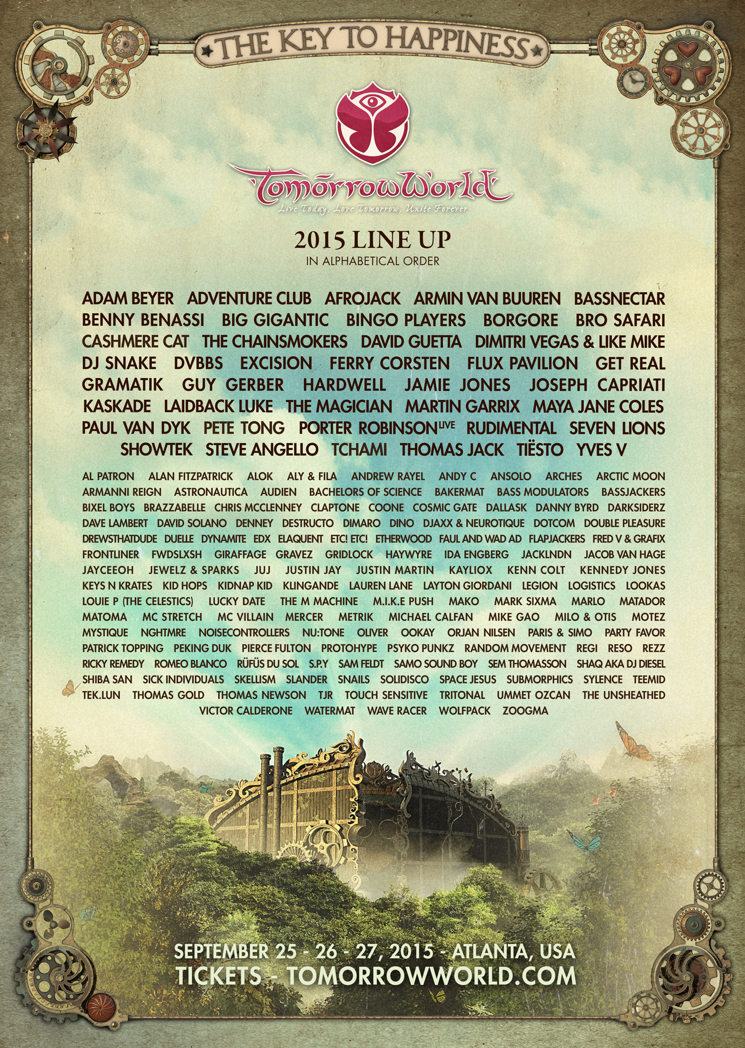 lineup TomorrowWorld