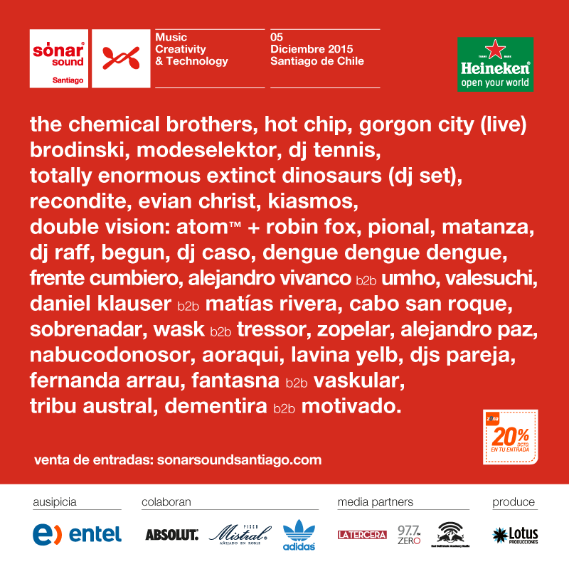 Line Up Sonar Sound Chile 2015