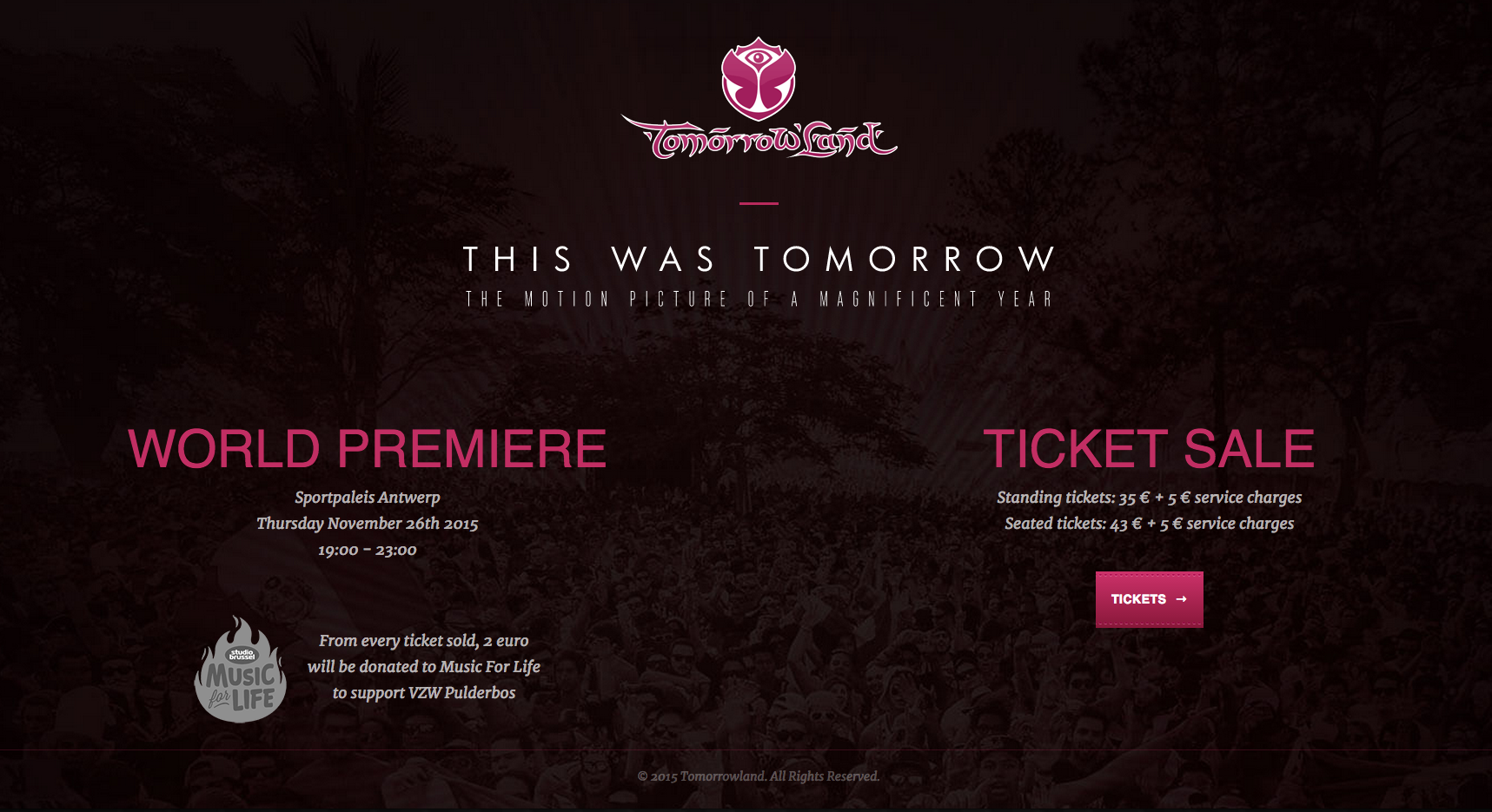 Tickets Tomorrowland Documental