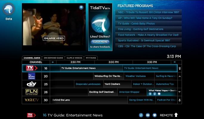 Tidal Tv Pronto