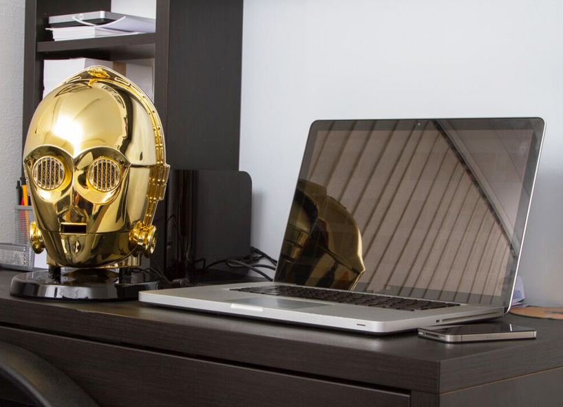 star-wars-audio-system-gold-plated-C3PO-stormtrooper-heads-designboom-09