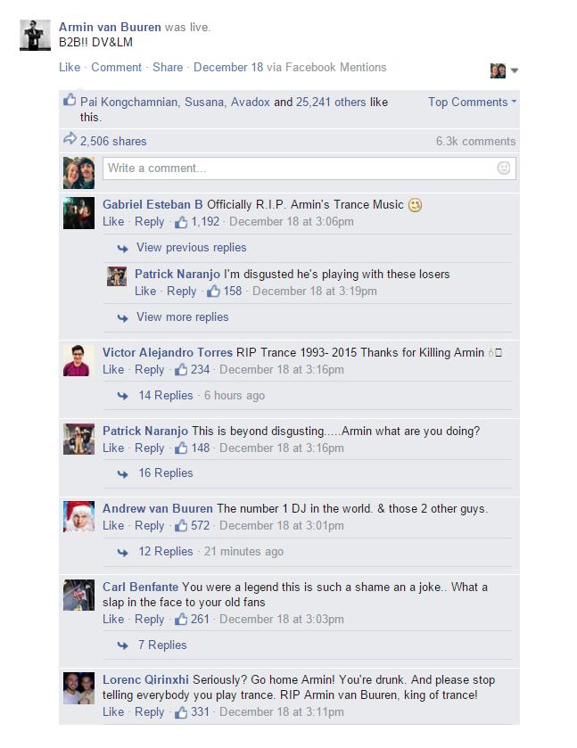 Armin van Buuren Facebook