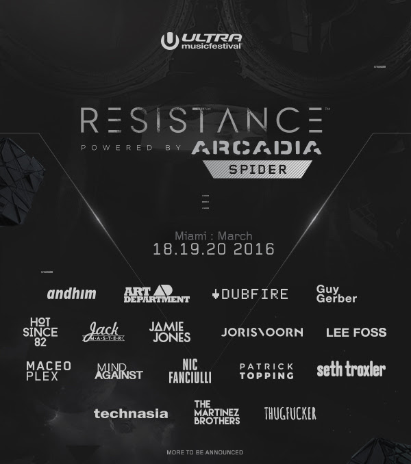 ultra 2016 resistance stage line-up