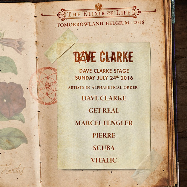 Dave Clarke Stage tomorrowland