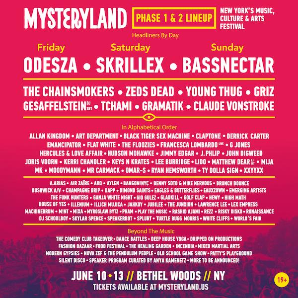 Line-up Misteryland