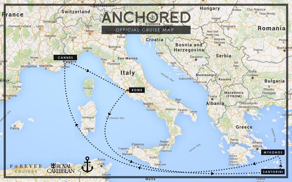 Mapa del festival Anchored