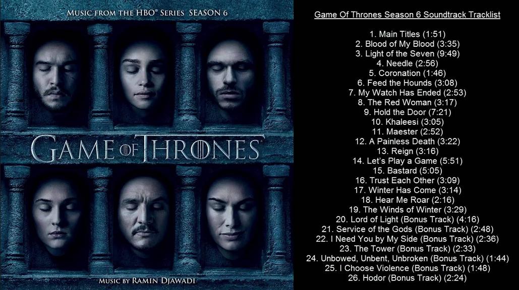 Game of Thrones Tracklist Vinyl