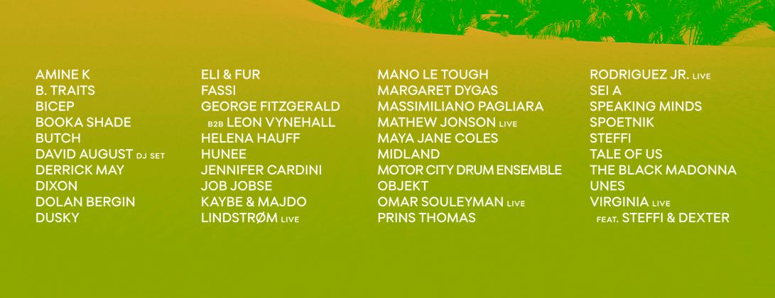 Line-up Oasis festival 2016