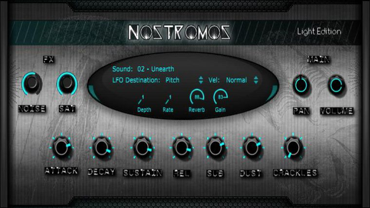 DESCARGA GRATIS: «NOSTROMOS LIGHT ROMPLER VST/AU»