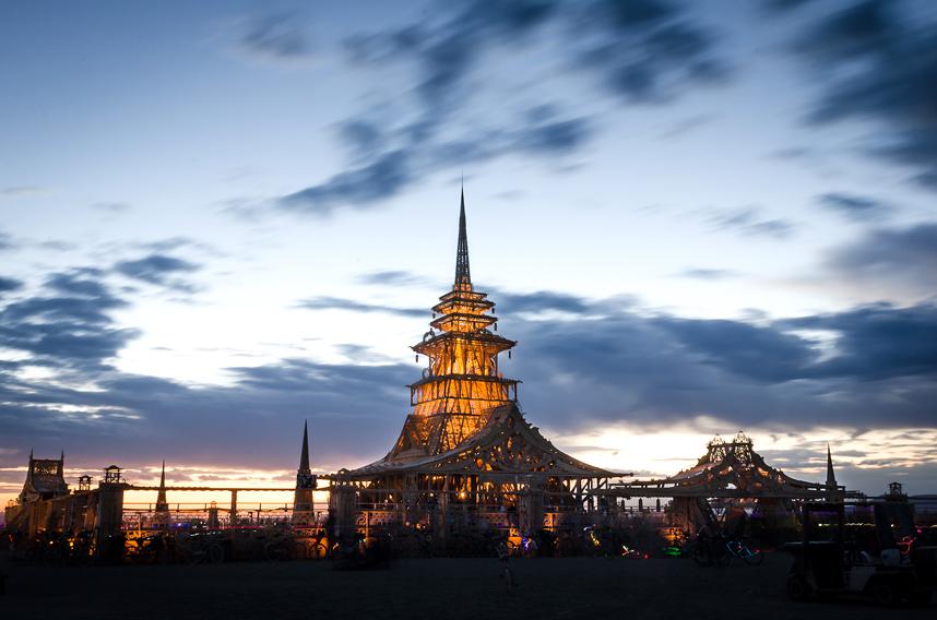 Temple Burning Man 2