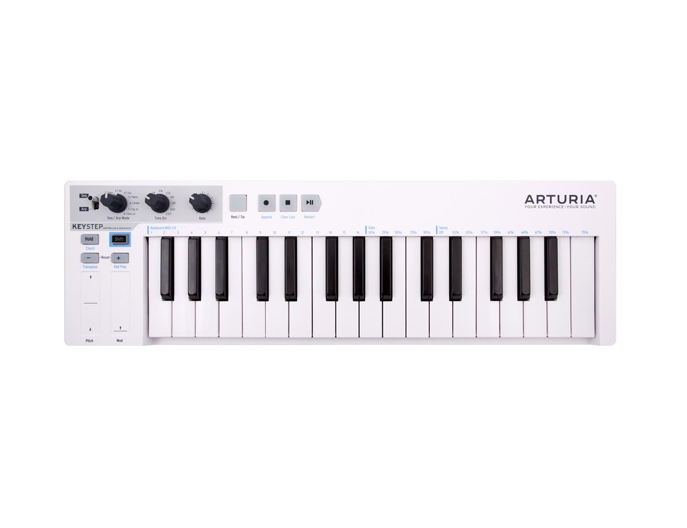 ARTURIA KeyStep Compact Polyphonic Step Sequencer and USB MIDI Keyboard AR-KEYSTEP