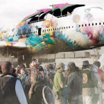 VIDEO – UN BOEING 747 ATERRIZA EN BURNING MAN