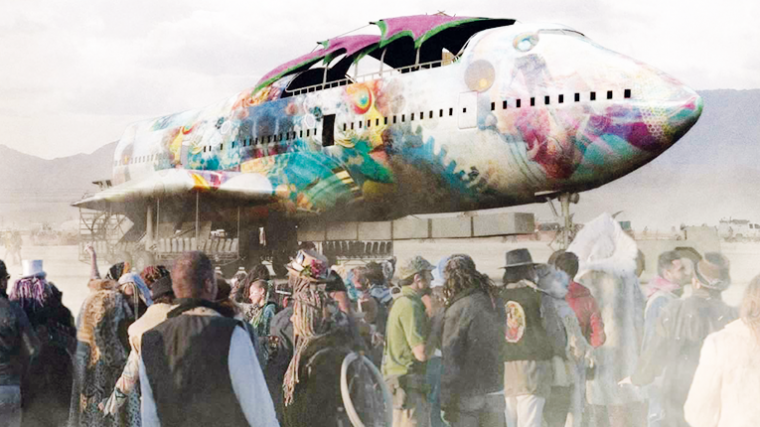 VIDEO – UN BOEING 747 ATERRIZA EN BURNING MAN