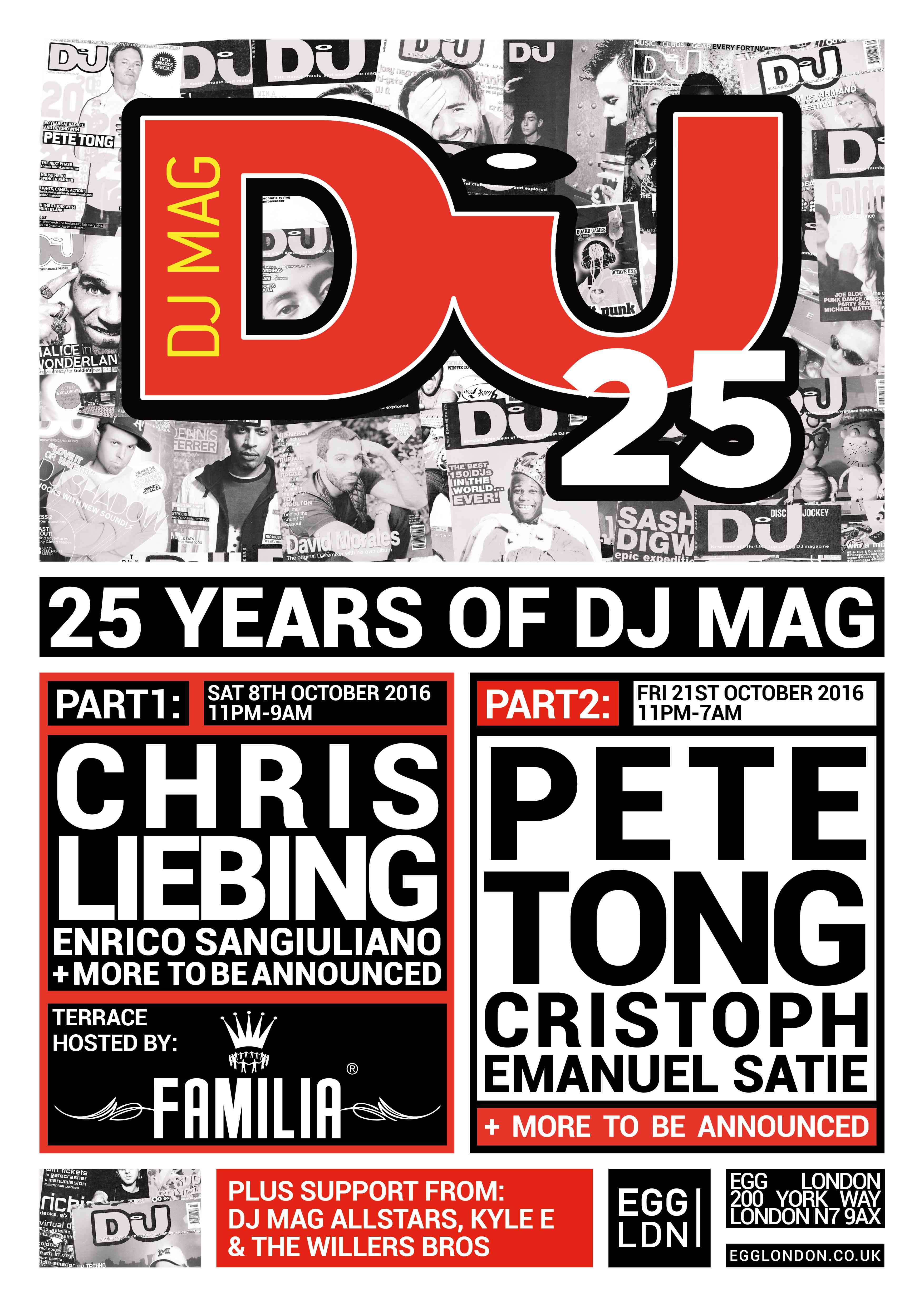 Lineup de las fiestas de DJ Mag