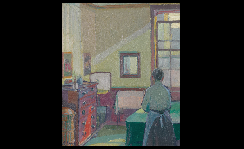 Harold Gilman, Interior (Mrs Mounter), 1917