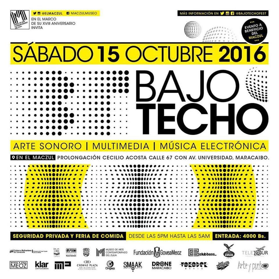 Flyer Bajo Techo Maracaibo