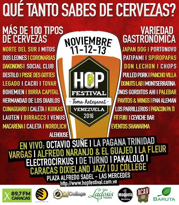 Hop Festival caracas 2016