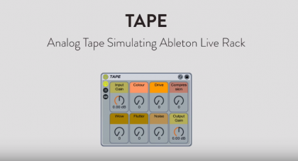 VIDEO – DESCARGA GRATIS: ANALOG TAPE ABLETON LIVE RACK