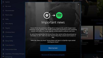Microsoft cerrará Groove Music y se asociará con Spotify