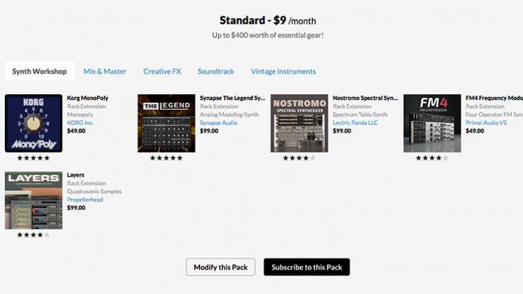 Propellerhead presenta el nuevo plan de suscripción «Reason Rack Extension»