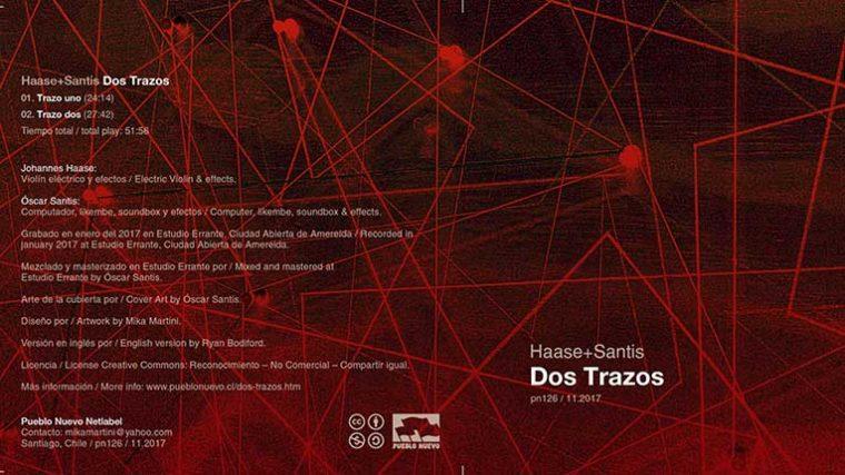 """El dúo germano-chileno compuesto por Johannes Haase y Óscar Santis lanzan su disco """"Dos Trazos"""""""