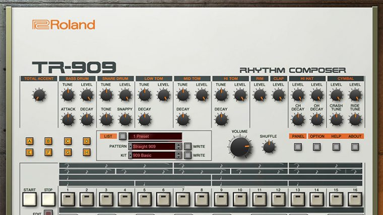 Roland Cloud agrega 909 virtual con integración a TR-8S