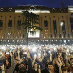 Protestas en Georgia después de una redada policial en clubes nocturnos