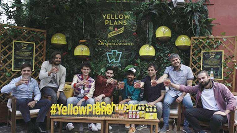 Schweppes y Wegow presentan Yellow Plans, el plan definitivo para las tardes de verano