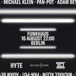 HYTE presenta a Adam Beyer y Pan-Pot como primeros invitados en la serie de eventos en Funkhaus