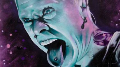 Crean mural en honor al líder de The Prodigy, Keith Flint, en su club de fútbol local