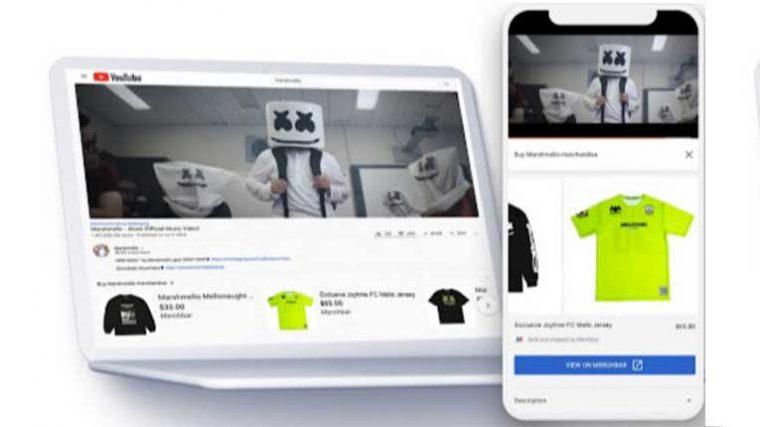YouTube permitirá agregar merch de artistas en la descripción de los videos