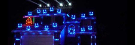 Decoran una casa por Halloween y sincronizan las luces con un track de Skrillex
