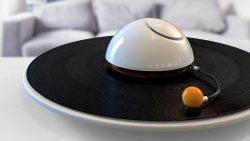 Un diseñador crea un plato para escuchar vinilos con forma de Saturno