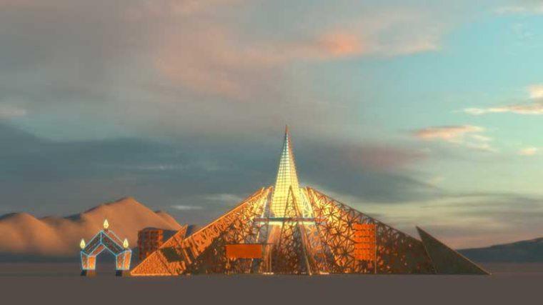 VIDEO – Burning Man revela el templo de 2020: The Empyrean