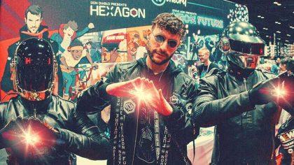 Don Diablo muestra su nueva serie de comics 'Hexagon' con unos invitados especiales