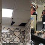 Un hombre se mete por los ductos del aire para ver el show de Liquid Stranger