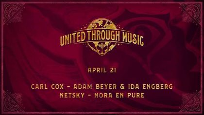 Carl Cox, Netsky, Adam Beyer y más en vivo hoy en 'Tomorrowland Presents: United Through Music'