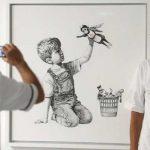 FOTOS: Banksy homenajea a los trabajadores de la salud con una obra en un hospital de Inglaterra