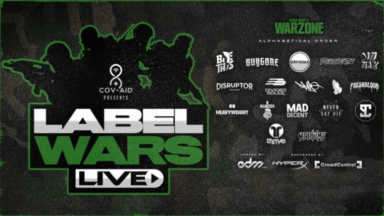 LABEL WARS – Organizan un tornero de Call Of Duty con varios DJs de distintos sellos