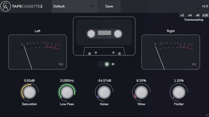 Tape Cassette 2 – Con este plugin gratuito se pueden emular los sonidos de un clásico cassette