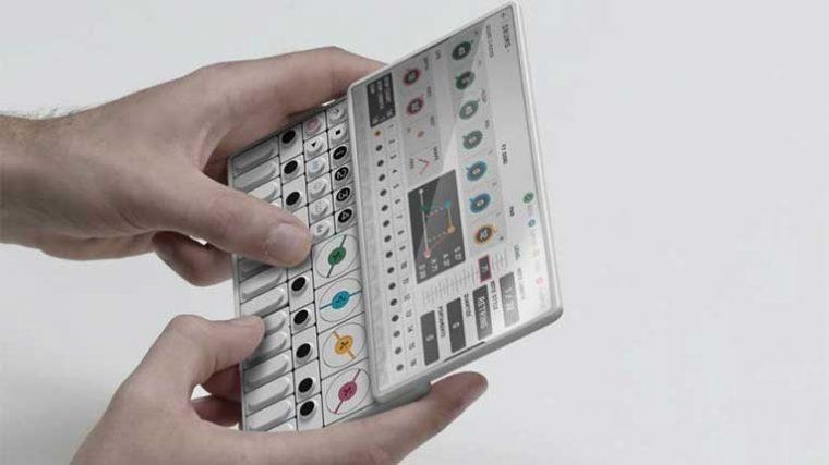 Una agencia creativa visualiza el sintetizador OP-1 de Teenage Engineering como un smartphone