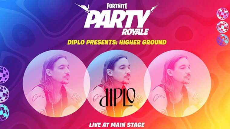 Diplo presenta: Higher Ground, un concierto en el Party Royale de Fortnite