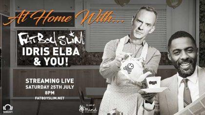 Fatboy Slim tocará un set desde su casa junto a Idris Elba este fin de semana vía live streaming