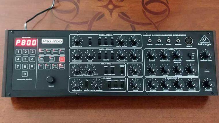 Behringer presenta su PRO-800, un clon basado en el mític Sequential Prophet-600
