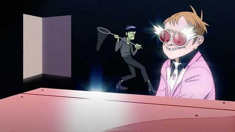 VIDEO – Mira a Elton John colaborar con Gorillaz en la nueva canción 'The Pink Phantom'