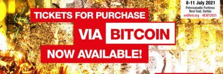 EXIT Festival comienza a vender entradas en bitcoin