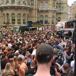 La protesta #FreedomToDance en Londres fue «similar a un festival»